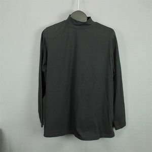 Woman Within Mock Neck Top Shirt Large 18/20 Black